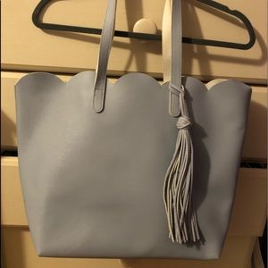Handbags - Baby blue tote bag
